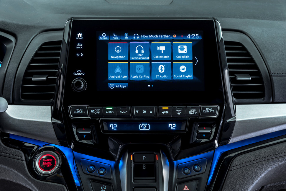 Honda Odyssey with latest-generation infotainment system