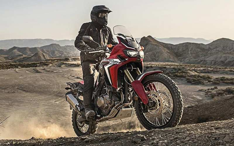 India-spec 2017 Honda Africa Twin with DCT transmission
