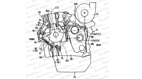 Patent sketch of Honda's upcoming supercharged engine