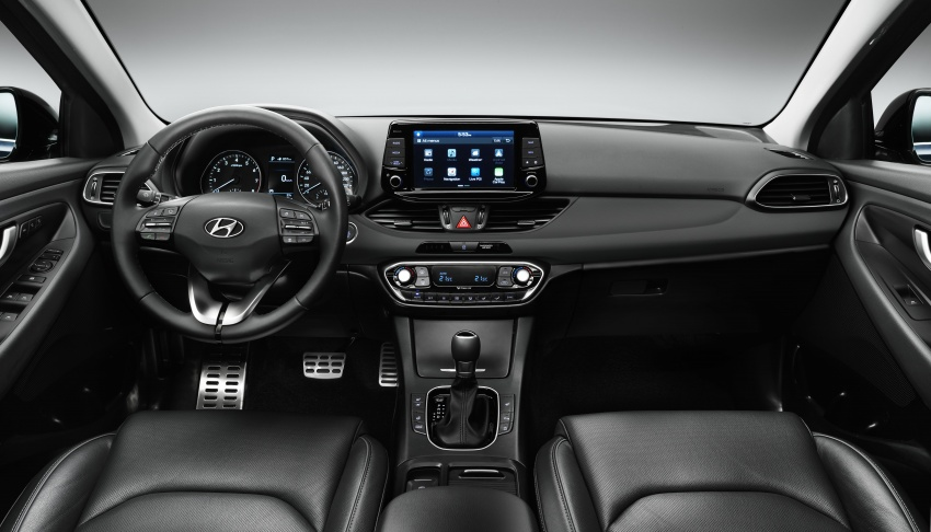 Hyundai i30 Estate version Unwrapped Prior to Geneva Motor Show 2017 Side Interior Dashboard Profile