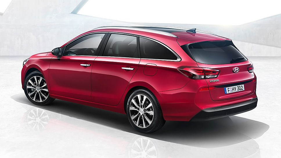 Hyundai i30 Estate version Unwrapped Prior to Geneva Motor Show 2017 Side Rear Profile