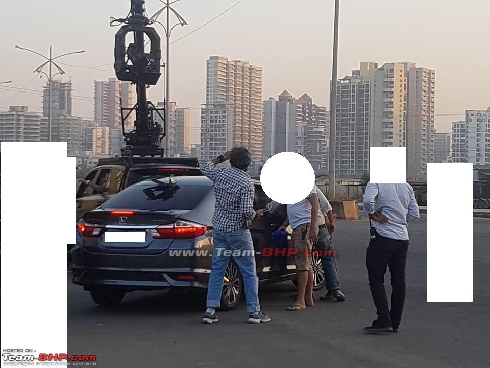 2017 Honda City Facelift Spotted in India While Ad-Shoot Rear Profile