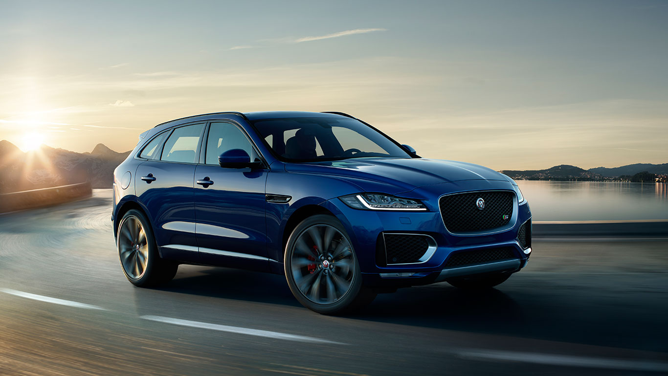 India Based Jaguar F-Pace Listed on Company's Website