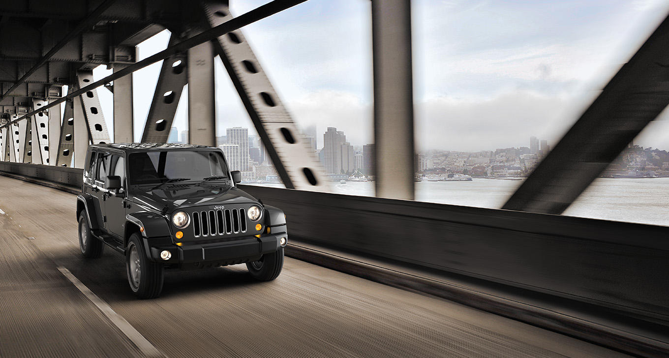 Jeep Wrangler Unlimited at Front