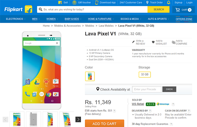wholesale dealer b057f e3767 Lava Pixel V1 Brings Android One Back in Field with Upgrades