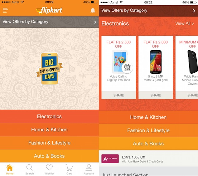 Many Lucrative Offers are being put forward by Flipkart to attract consumers