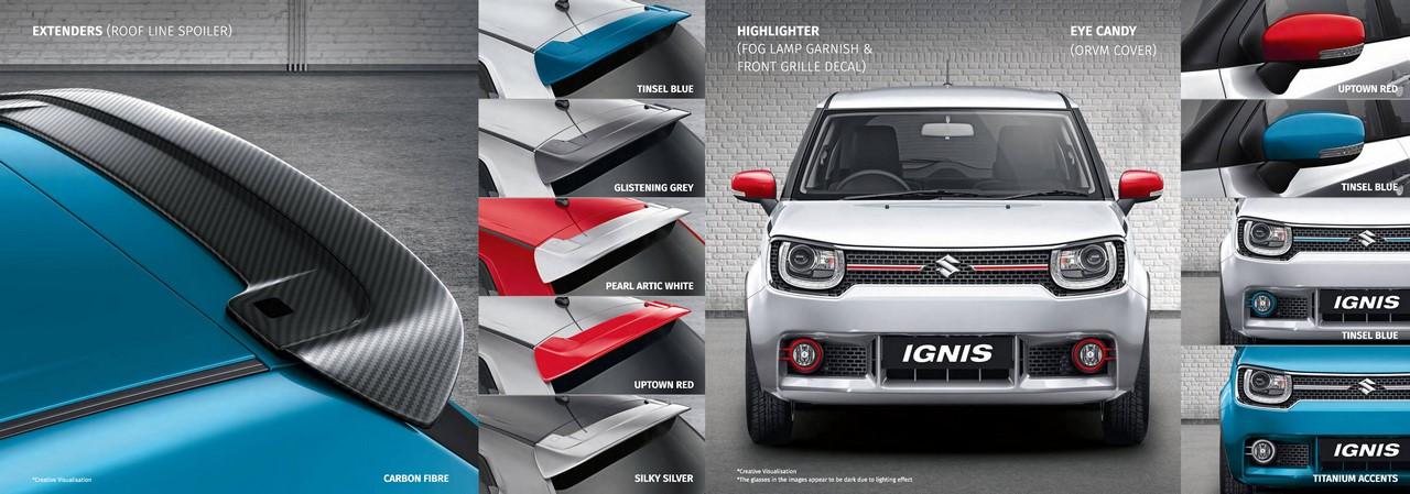 Suzuki Car Dealership >> Maruti Ignis Utility and Customisation Kit Launched Under Nexa Dealership