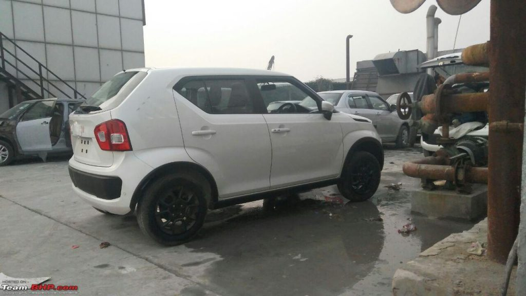 Rear quarter of the spotted upcoming Maruti Suzuki Ignis