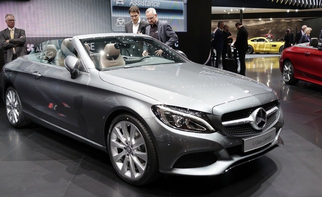 Mercedes Benz C Class Cabriolet uncovered at Geneva motor show
