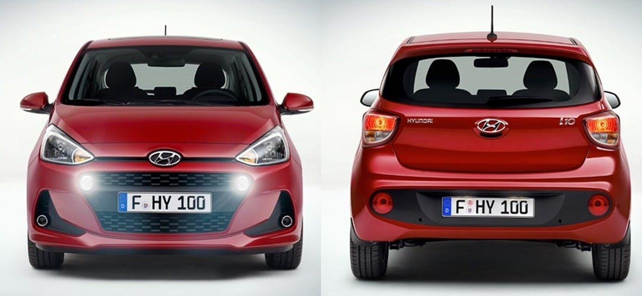 New 2017 Hyundai Grand i10 Facelift Front and Rear Fascia
