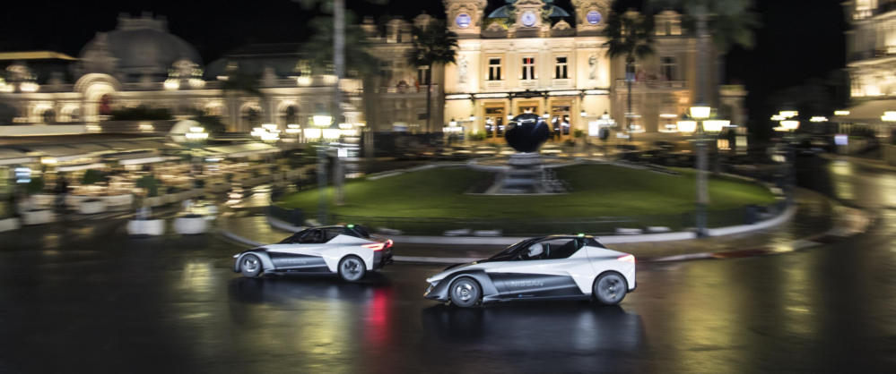 Nissan Electric Vehicle BladeGlider sports car On track