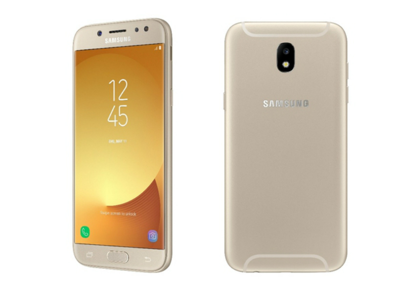 Samsung Galaxy J7 Pro back and front
