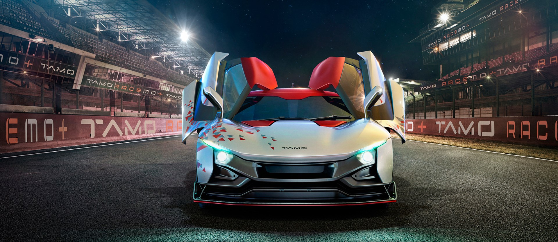 Tata Sports Car TaMo RaceMo Unwrapped Front and Door opening Style
