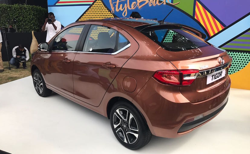 Tata Tigor Compact Sedan side rear profile
