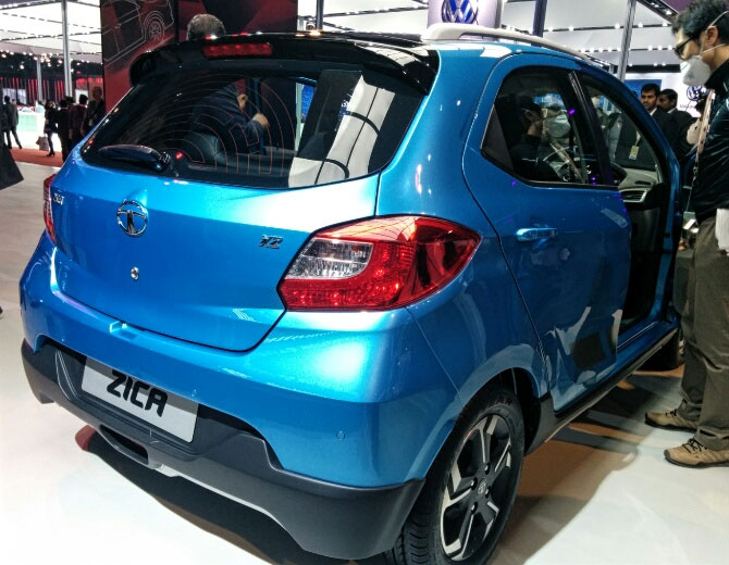 2016 auto expo tata zica spotted in aqua blue paint job for Internship for mechanical engineering students in tata motors