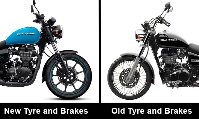 Royal Enfield Thunderbird X Tyre and brakes