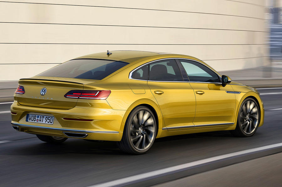 Volkswagen Arteon Side rear at Geneva Motor Show 2017