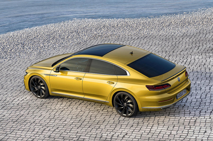Volkswagen Arteon top view at Geneva Motor Show 2017
