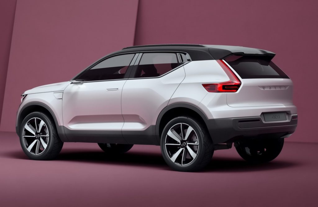 Volvo XC40 rear three quarter view