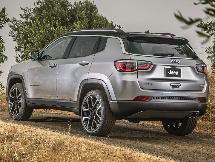 All new Jeep Compass left rear quarter