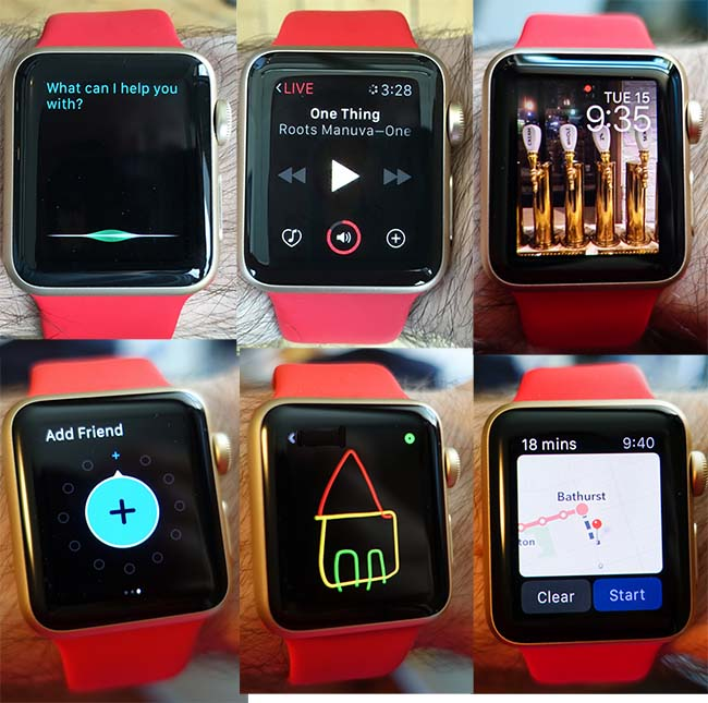 Apple watch with buzzfeed app
