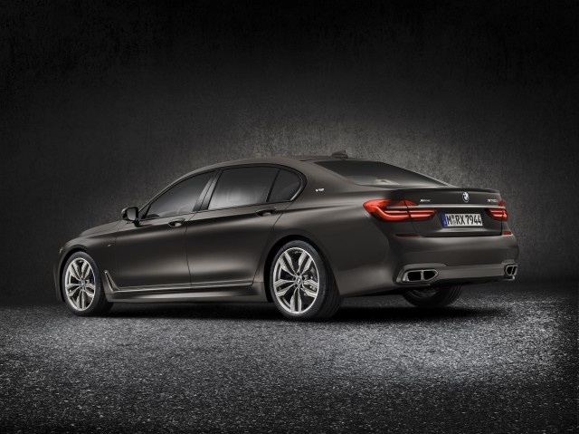 BMW 7 series luxury sedan rear
