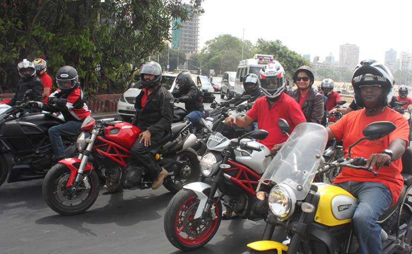Ducati India customers at an event