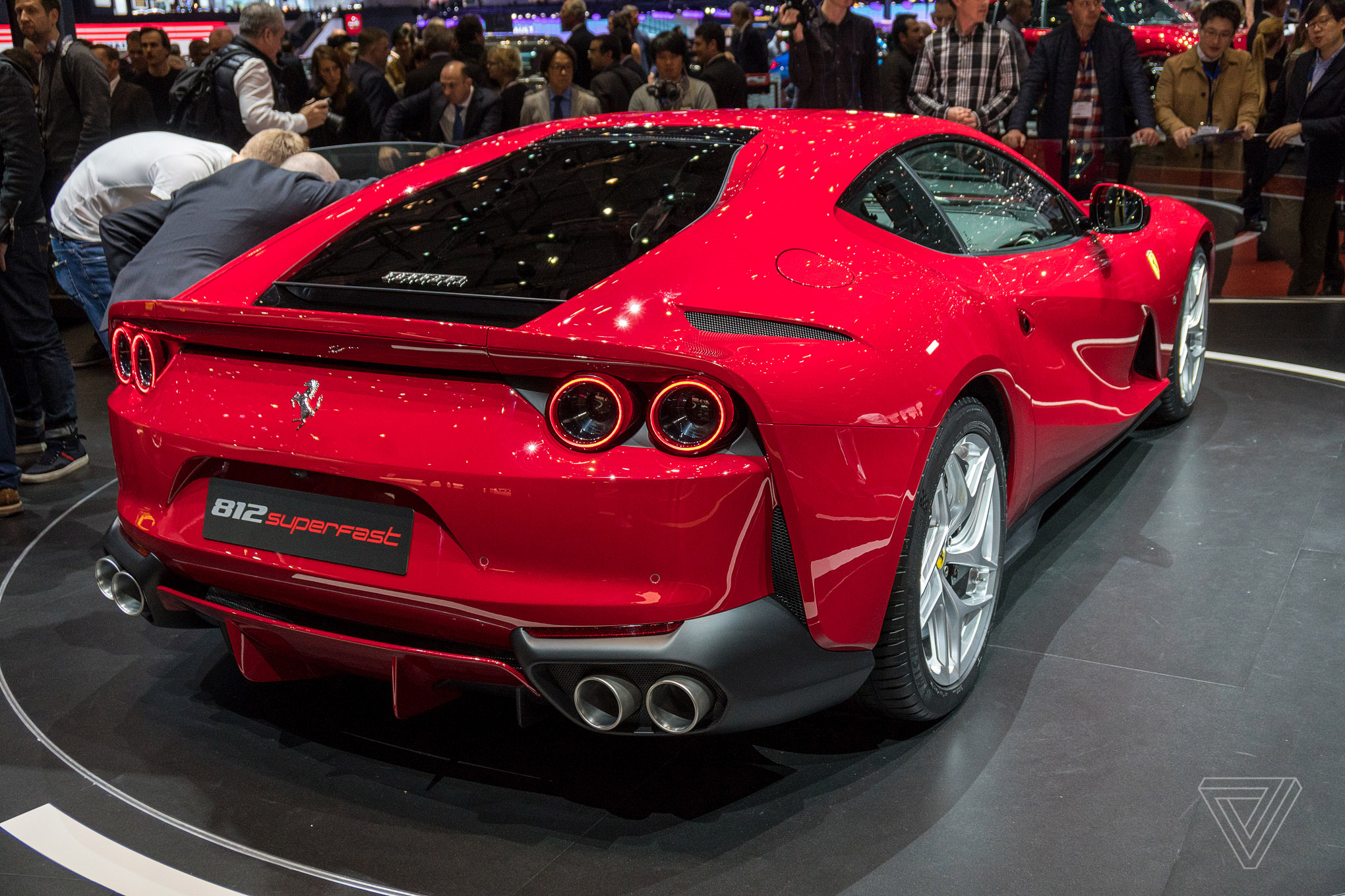 Ferrari 812 Superfast Rear Profile
