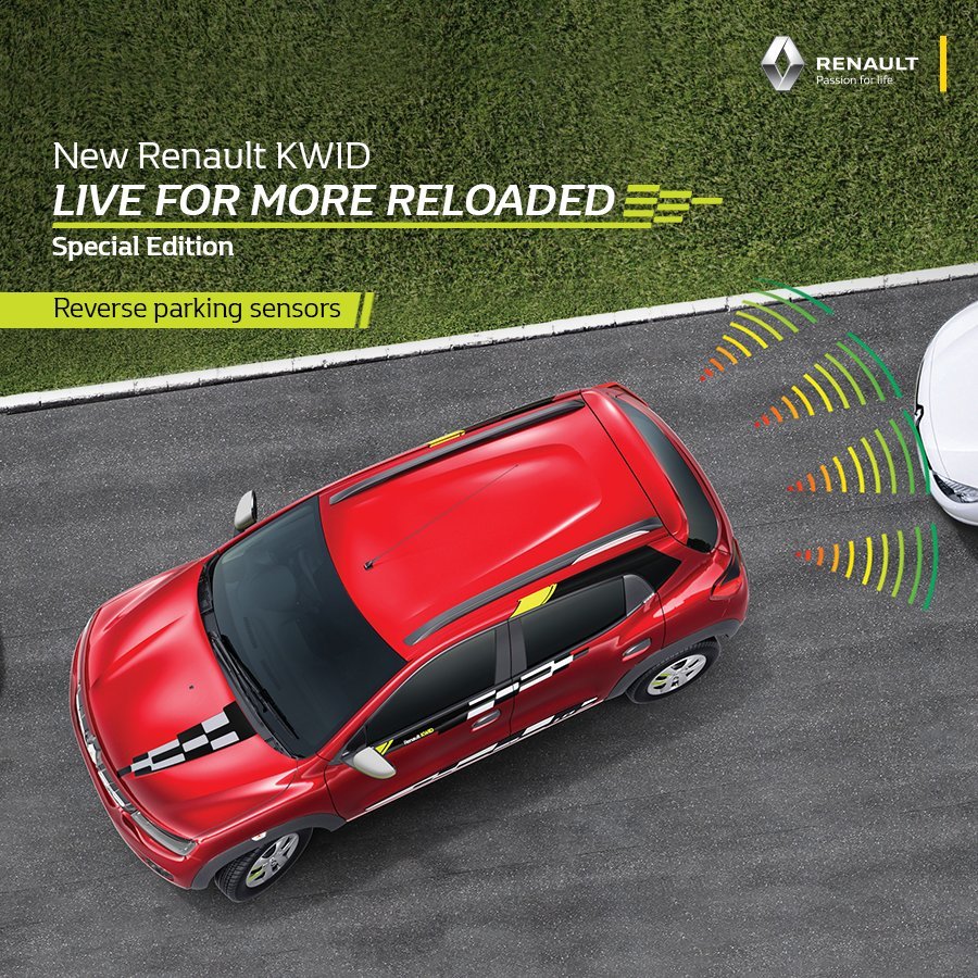 The reverse parking sensors of the new RenaultKWID