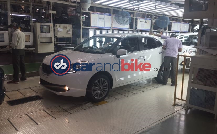 Maruti Suzuki Baleno Hybrid Spied at Production plant side Profile