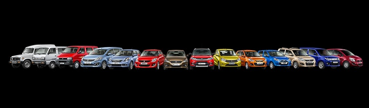 Models including hatchback Alto 800 to the premium crossover S-Cross