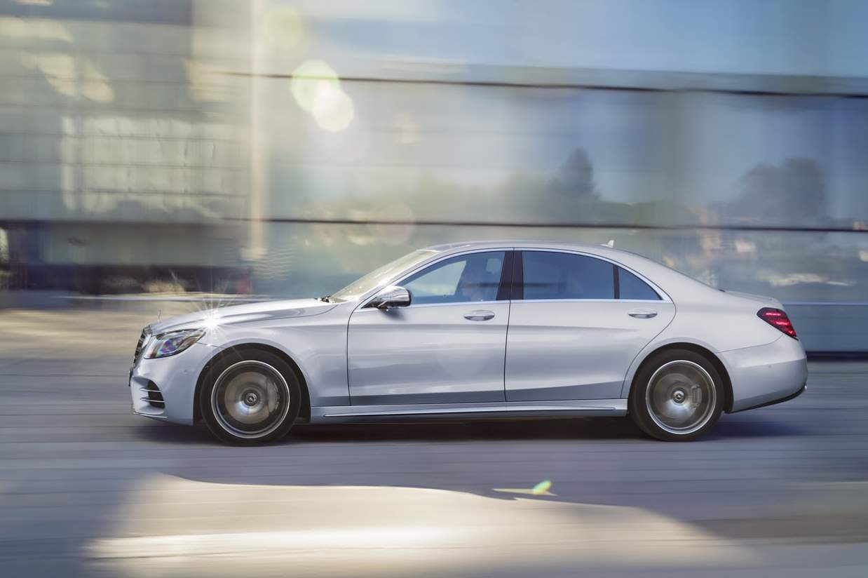 Mercedes S-Class Facelift from side profile