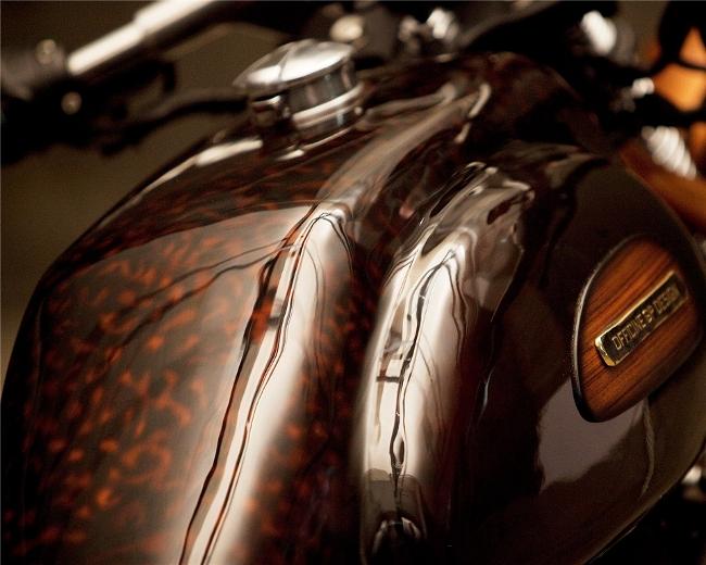 Triumph bonneville gets wooden influence