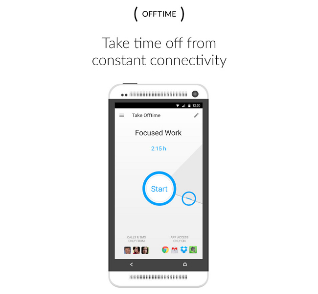 how to use offtime app