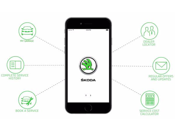 skoda india introduced myskoda app. Black Bedroom Furniture Sets. Home Design Ideas