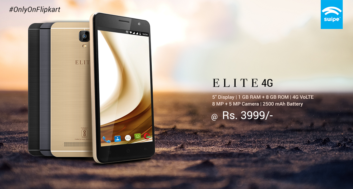 Swipe Elite 4G is now exclusively available via Flipkart