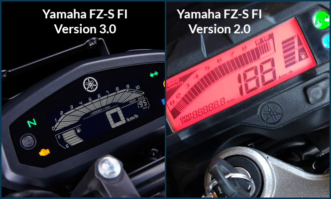 Yamaha FZS FI-V3.0 and V2.0 Meter