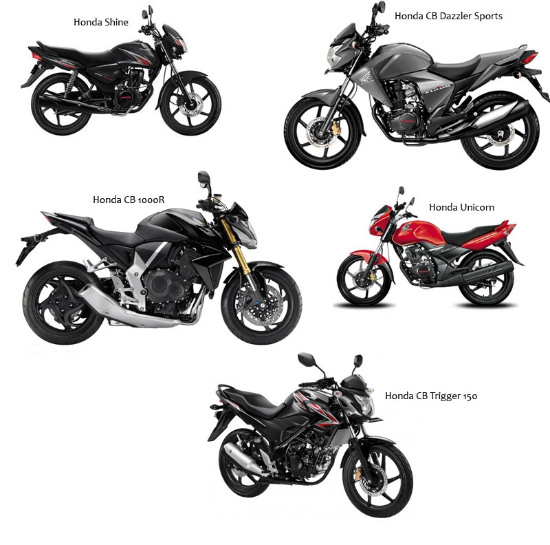 Honda Bikes List With Important Information