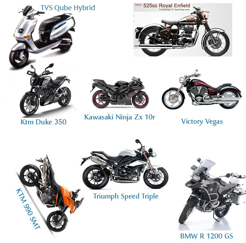 of super motorbikes in the country these bikes have different features