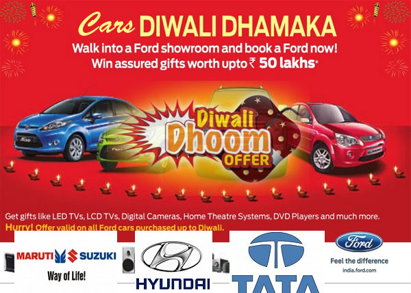 Diwali Offers And Discounts By Major Car Companies In 2013