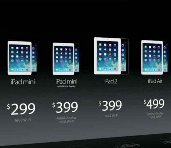 Apple launches New iPads and MacBook for 2013
