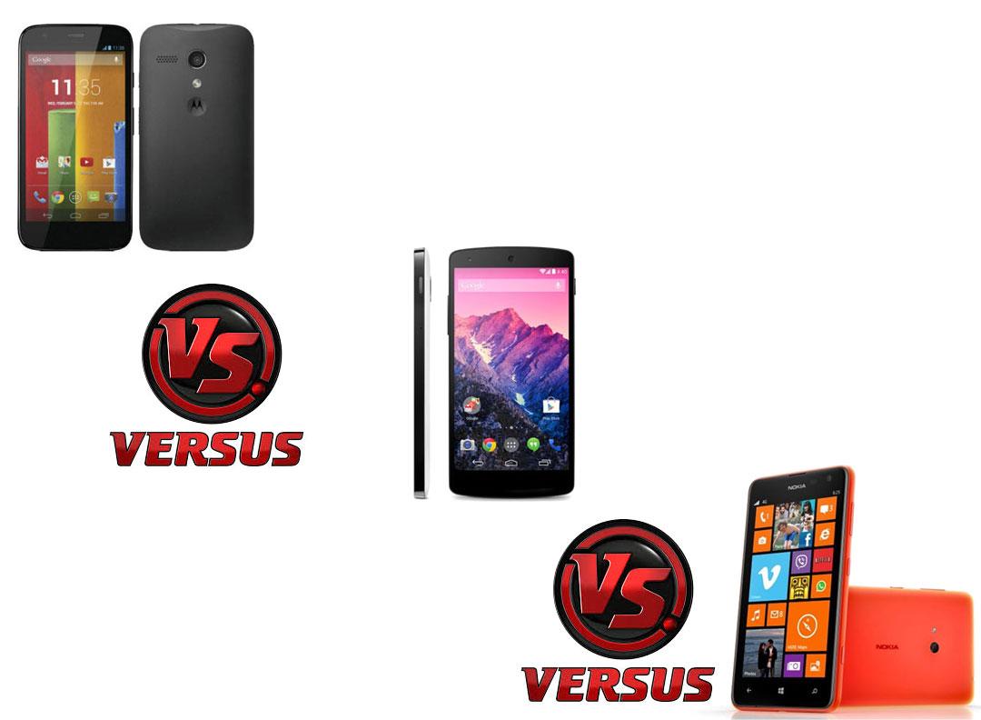 Moto g vs nexus 5 vs lumia 625 sagmart