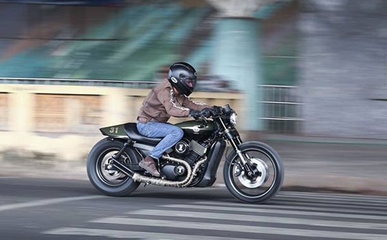 Harley Davidson Street 750 In A New Livery Of Cafe Racer Motomiu