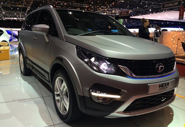 Tata hexa concept arrived at geneva auto show for Tata motors future cars