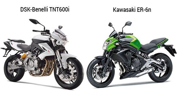 Comparison DSK Benelli TNT 600i Vs Kawasaki ER 6n