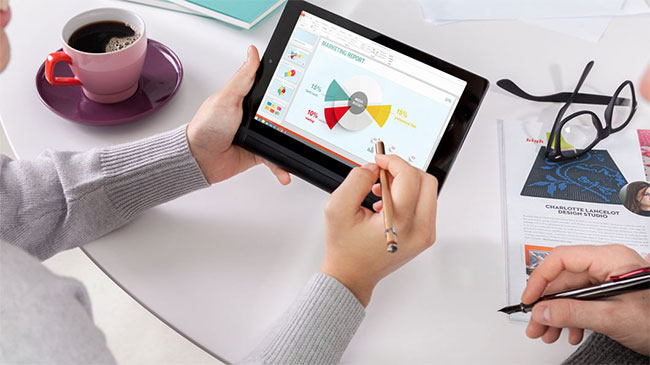 how to write slides using tablet pen