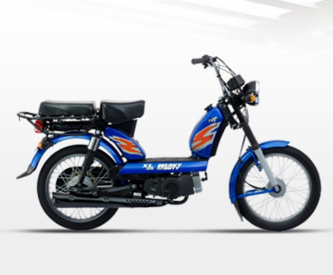 Tvs motor launches xl 100 moped in uttar pradesh sagmart for How much does a motor scooter cost