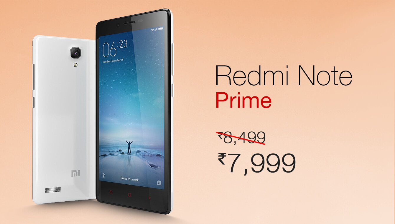 Xiaomi Slashes Down The Price Of Redmi Note Prime To Inr 7999