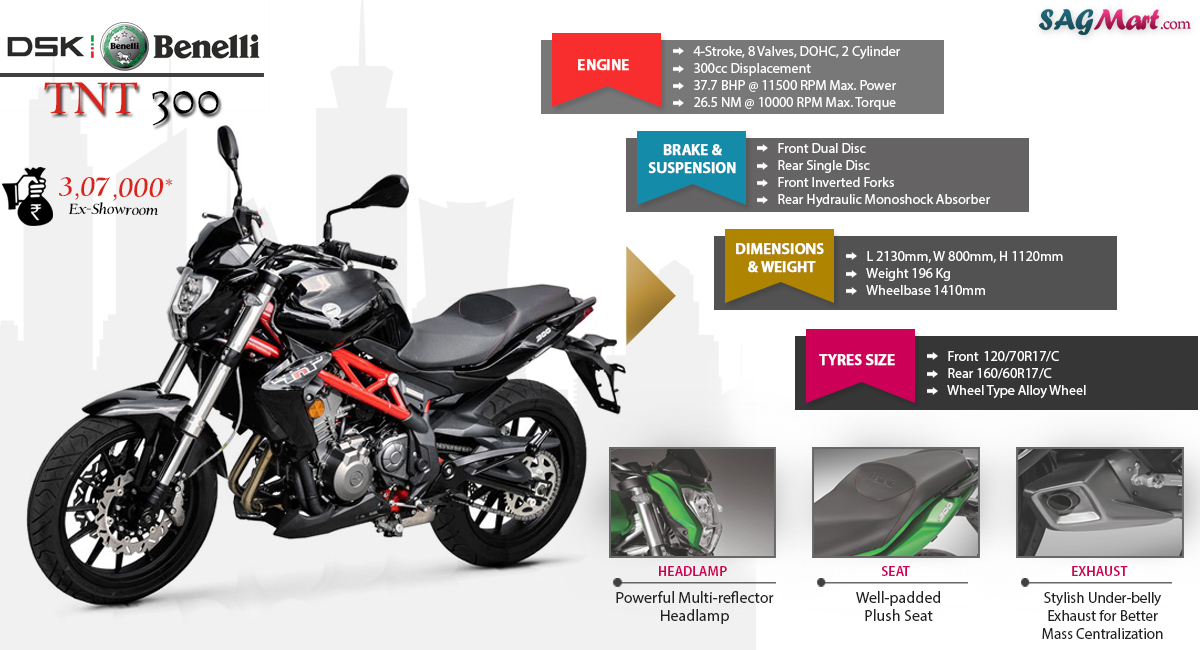 Dsk Benelli Tnt 300 Price India Specifications Reviews