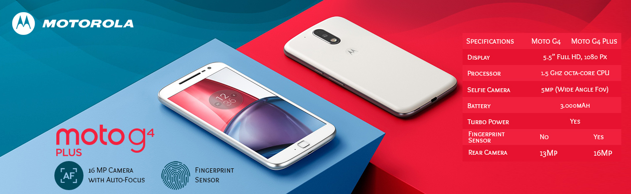 Moto G4 and Moto G4 Plus Specifications and Features